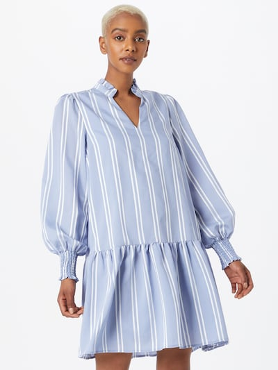 Y.A.S Kleid 'Hoppa' in rauchblau / weiß, Modelansicht