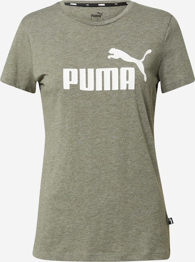 PUMA T-shirt fonctionnel en kaki / blanc, Vue avec produit