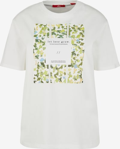 Tricou s.Oliver pe crem / verde, Vizualizare produs