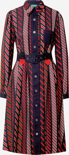 UNITED COLORS OF BENETTON Kleid in blau / rot, Produktansicht