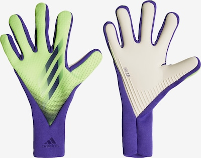 ADIDAS PERFORMANCE Torwarthandschuhe 'X 20 Pro' in neongrün / lila / weiß, Produktansicht
