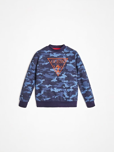 GUESS KIDS Shirt in blau / mischfarben / orange, Produktansicht