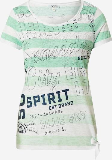 Soccx T-Shirt in hellgrün / schwarz / silber / weiß, Produktansicht