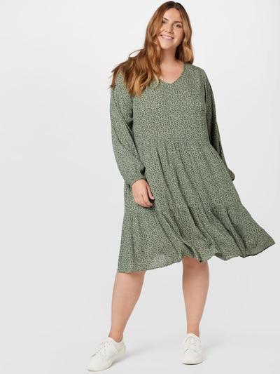 KAFFE CURVE Kleid 'Linea Ami' in grasgrün / schwarz, Modelansicht