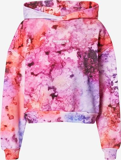PARI Sweatshirt 'SPORTS CLUB' in lila / orangerot, Produktansicht