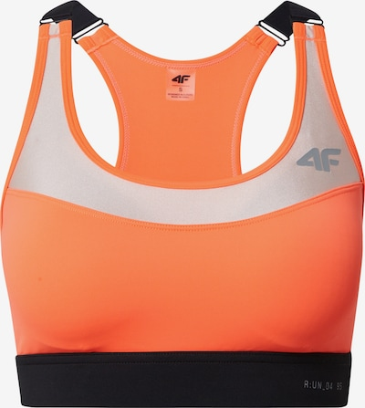 4F Sports Bra in Grey / Neon orange / Black / Silver, Item view