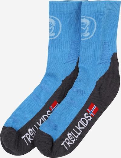 TROLLKIDS Sportovní ponožky - světlemodrá / tmavě šedá / červená / bílá, Produkt