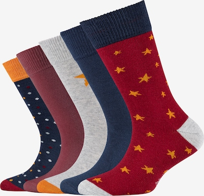 s.Oliver Socks in Navy / Yellow / mottled grey / Red, Item view