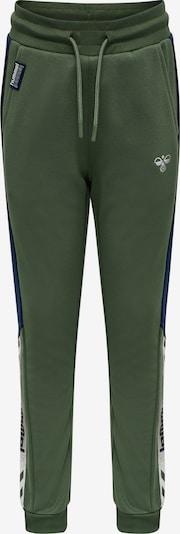 Hummel Sportbroek in de kleur Beige / Donkerblauw / Groen / Wit, Productweergave