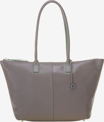 mywalit Sorano Shopper Tasche Leder 31 cm in Grau