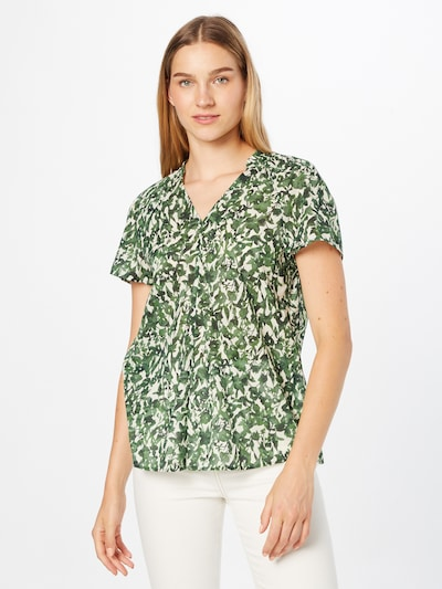 Marc O'Polo Blouse in Grass green / Pastel green / Dark green, View model