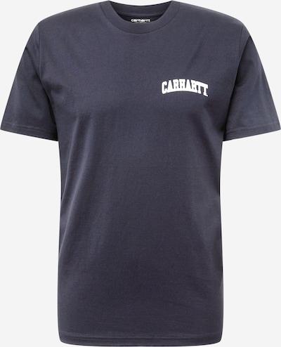 Carhartt WIP Tričko 'University Script' - námornícka modrá / biela: Pohľad spredu