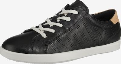 cappuccinobarna / fekete / fehér ECCO Rövid szárú edzőcipők, Termék nézet