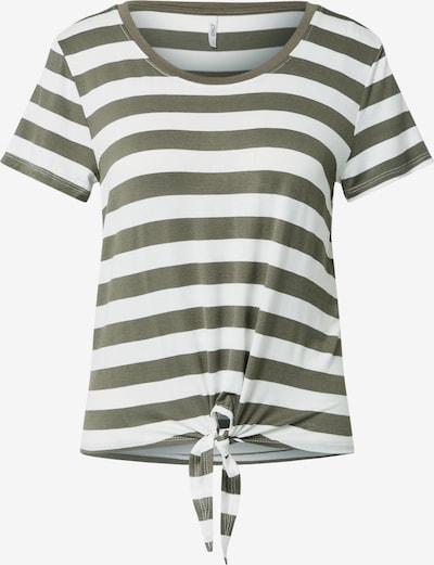ONLY Majica 'ONLARLI' | temno zelena / bela barva, Prikaz izdelka