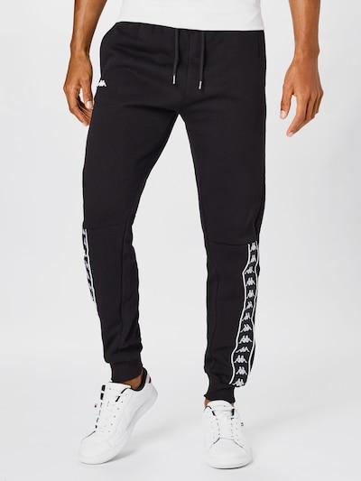 KAPPA Pantalon 'Hans' en noir / blanc, Vue avec modèle