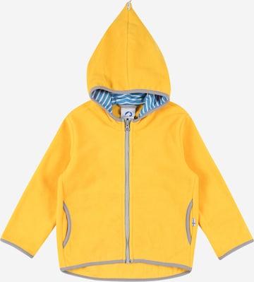 FINKID Fleece jacket 'PAUKKU' in Yellow