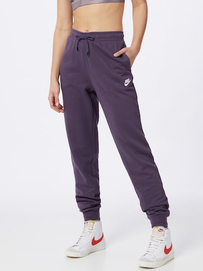 Nike Sportswear Trousers in Dark purple, View model
