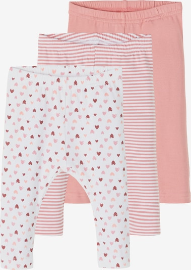 NAME IT Leggings in Apricot / Dusky pink / Carmine red / White, Item view