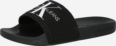Calvin Klein Jeans Zapatos abiertos en negro / blanco, Vista del producto