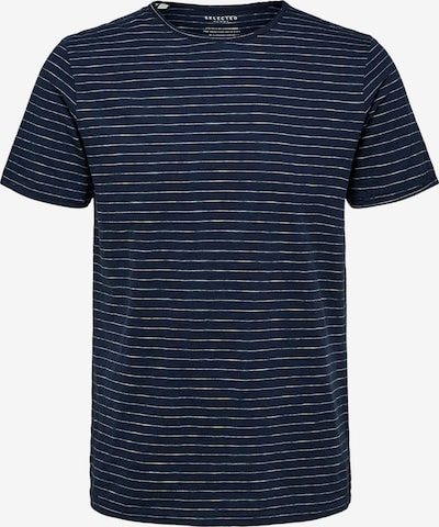 SELECTED HOMME T-Shirt 'SLHMORGAN' in navy / weiß, Produktansicht