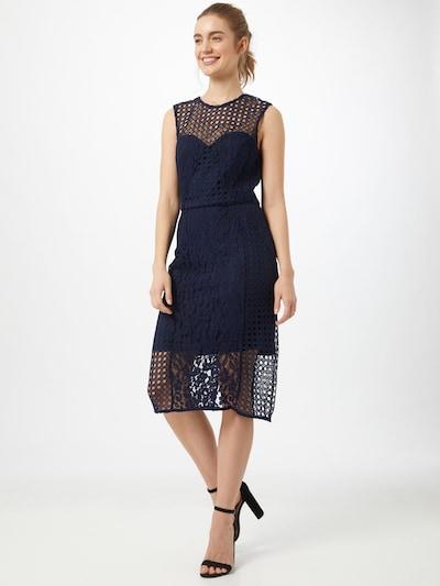 Bardot Kleid in dunkelblau, Modelansicht