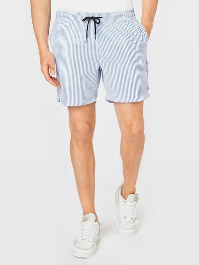 Redefined Rebel Kalhoty 'Ian' - nebeská modř / bílá, Model/ka