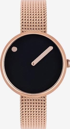 Picto Uhr in rosegold / schwarz, Produktansicht