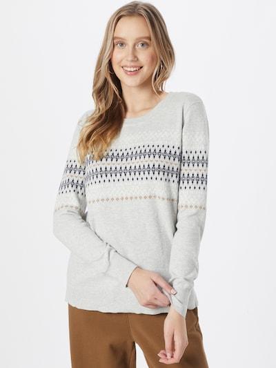 GAP Pullover 'FAIRISLE' in hellbraun / hellgrau / schwarz / weiß, Modelansicht