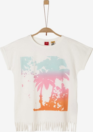 s.Oliver Shirt in opal / dunkelorange / pink / weiß, Produktansicht