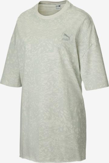 PUMA T-shirt oversize en gris, Vue avec produit
