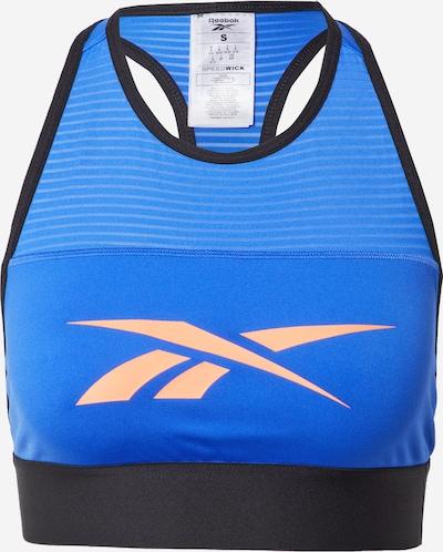 REEBOK Sporta krūšturis zils / aprikožu / melns, Preces skats