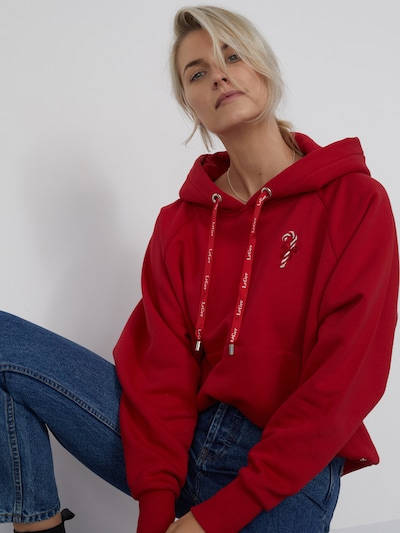 LeGer by Lena Gercke Hoodie 'Elisabeth ' in rot: Frontalansicht