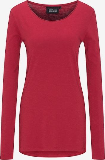 recolution Langarmshirt 'Basic' in rot, Produktansicht