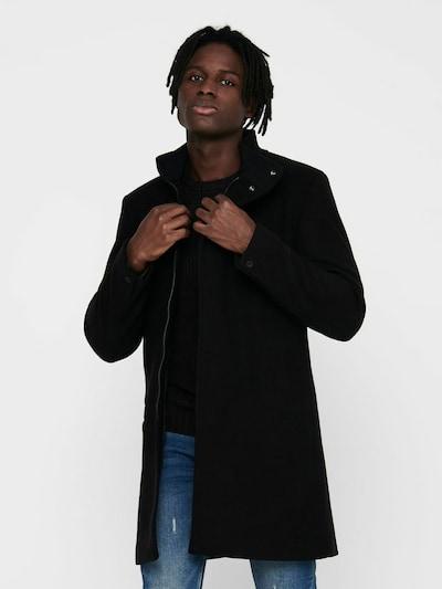 Only & Sons Winterjas in de kleur Zwart, Modelweergave