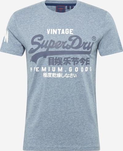 Superdry Shirt in taubenblau / hellblau / weiß, Produktansicht