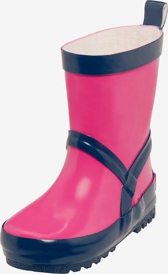 PLAYSHOES Gummistiefel in marine / pink, Produktansicht