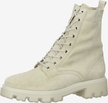 Paul Green Lace-Up Ankle Boots in Beige