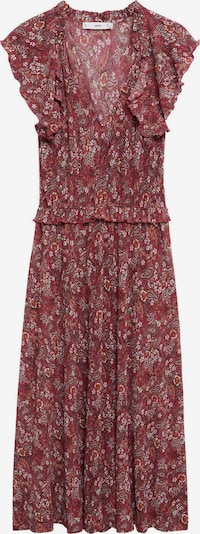 MANGO Kleid 'Graciela' in orange / rot / dunkelrot / weiß, Produktansicht