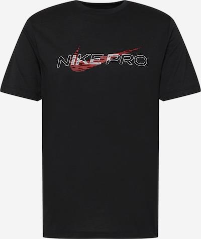 NIKE Функционална тениска в червено / черно / бяло, Преглед на продукта