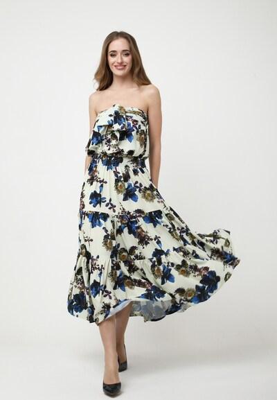 Madam-T Sommerkleid 'DORMINIKA' in blau / hellgelb, Modelansicht