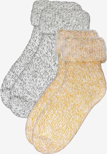 ROGO Socken in gelb / grau, Produktansicht