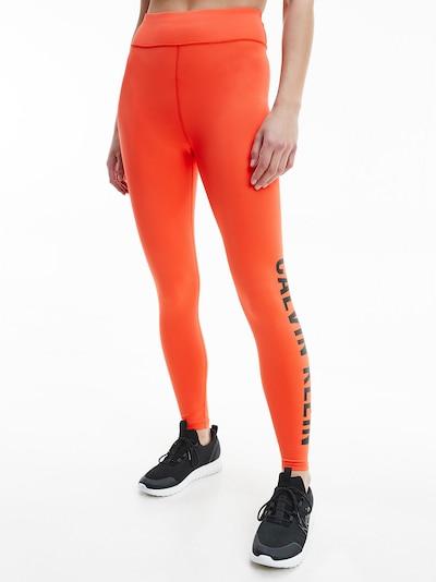 Calvin Klein Performance Спортен панталон в оранжево / черно, Преглед на модела