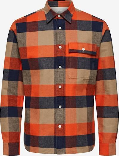 SELECTED HOMME Skjorte i blå / brun / orange, Produktvisning