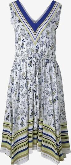 TOM TAILOR Kleid in himmelblau / oliv / schwarz / weiß, Produktansicht
