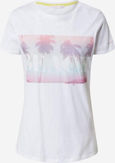 Stitch and Soul T-shirt en lilas / rose / blanc, Vue avec produit