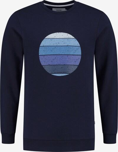 Shiwi Sweatshirt 'Sunset Shades' in navy / indigo / rauchblau / azur / dunkelblau, Produktansicht