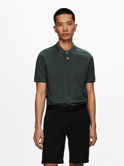 Only & Sons Shirt in de kleur Antraciet: Vooraanzicht
