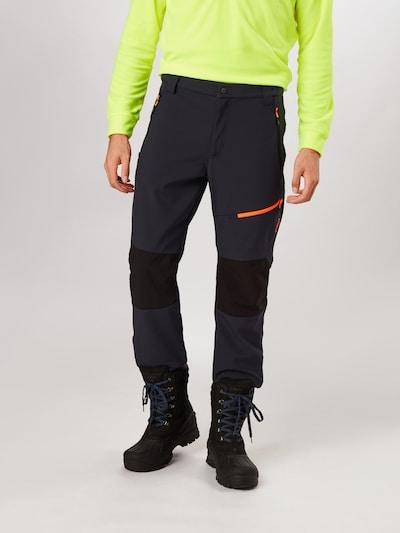 CMP Spodnie outdoor w kolorze antracytowy / ciemnopomarańczowym, Podgląd na modelu(-ce)