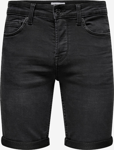 Only & Sons Shorts in black denim, Produktansicht