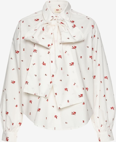 LEVI'S Blouse in Red / Wool white, Item view